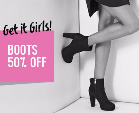 Boots 50% Off