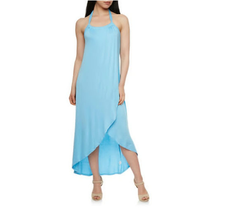 Wrap Maxi Dress with Tulip Bottom