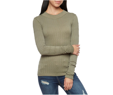 Cable Knit Top with Long Sleeves