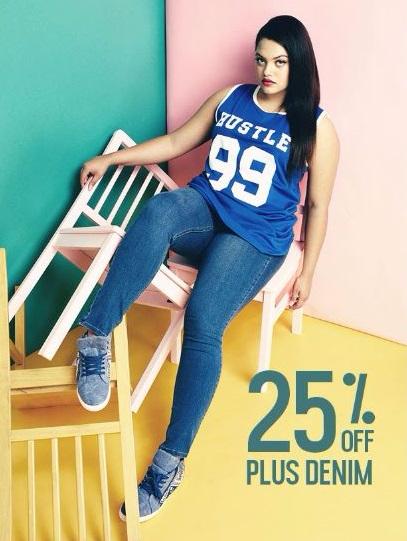 25% Off Plus Denim