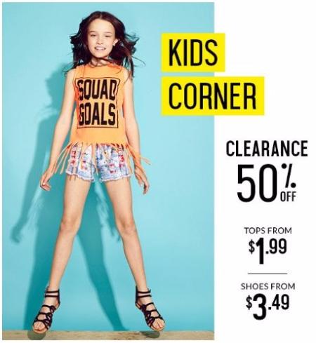 Kids Corner 50% Off