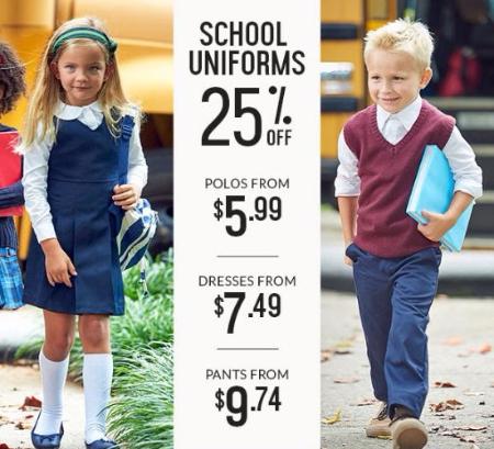 25% Off School Uniforms