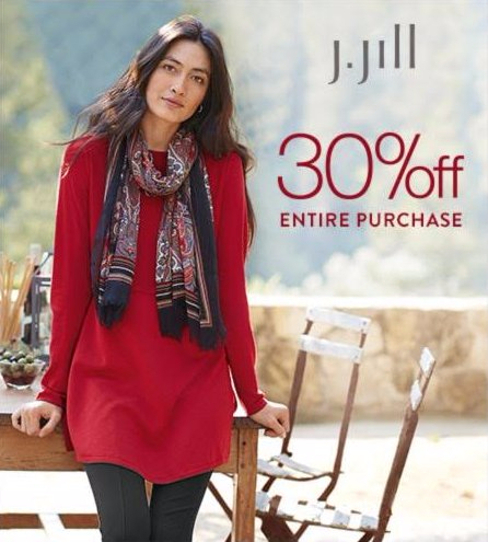 30% Off Entire Purchase at J.Jill