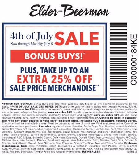 4th of July Sale at Elder-Beerman