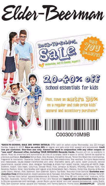 20-40% Off Back-To-School Sale at Elder-Beerman