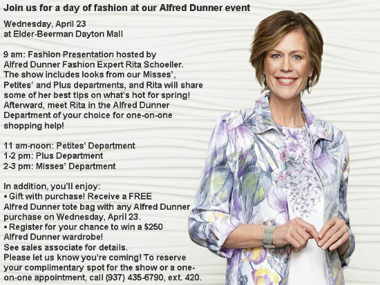Alfred Dunner Fashion Show at Elder-Beerman