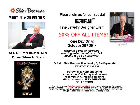 EFFY Designer Event at Elder-Beerman