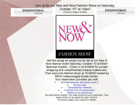 New and Now Fashion Show at Elder-Beerman