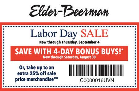 Labor Day Sale at Elder-Beerman