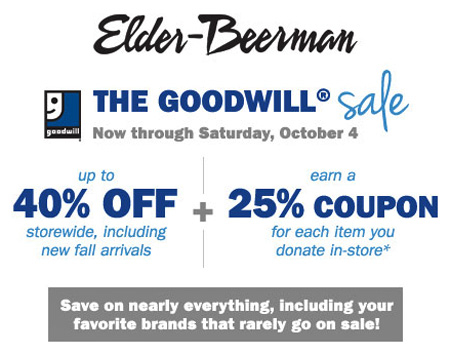 Goodwill Sale at Elder-Beerman