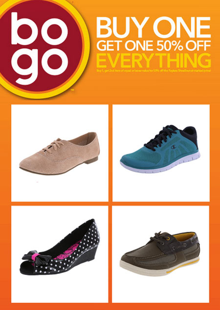 BOGO 50% Off Everything at Payless ShoeSource