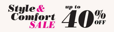 Style & Comfort Sale up to 40% Off