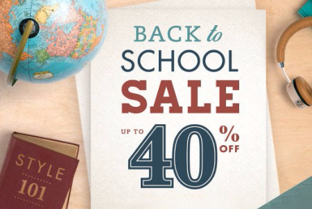 Back to School Sale up to 40% Off