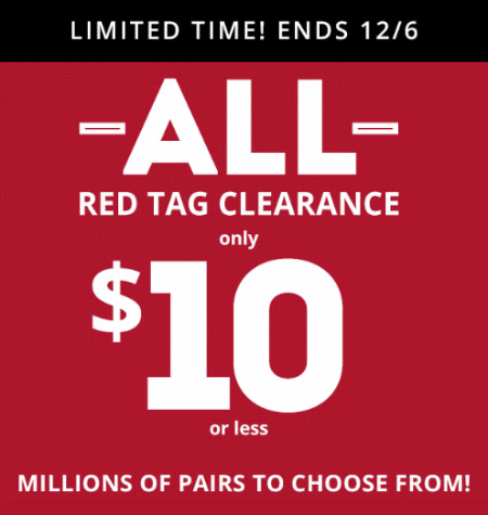 $10 Red Tag Clearance