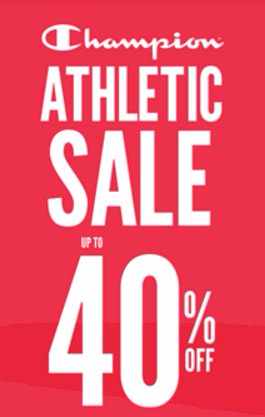 Champion Athletic Sale up to 40% Off