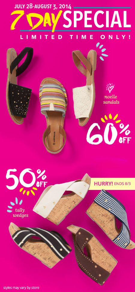 7 Day Special at Payless ShoeSource
