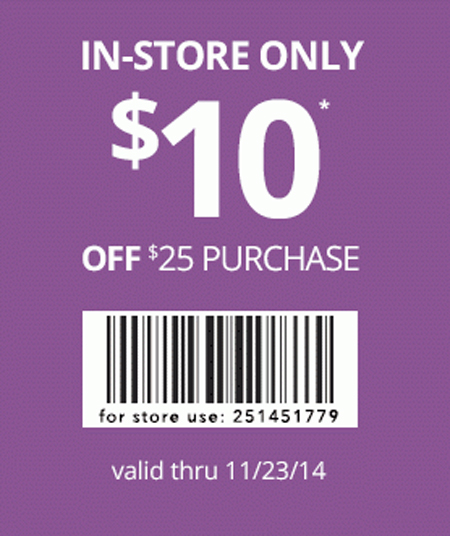$10 Off $25 Purchase at Payless ShoeSource
