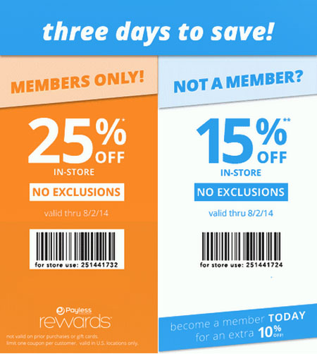 Three Days to Save at Payless ShoeSource