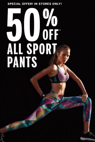 50% Off All Sport Pants