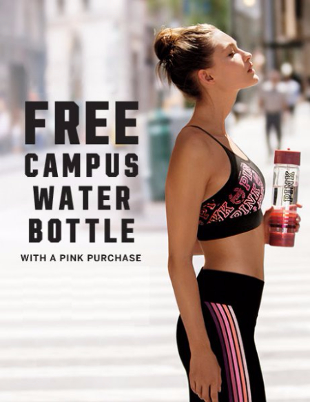 Free Campus Water Bottle With PINK Purchase