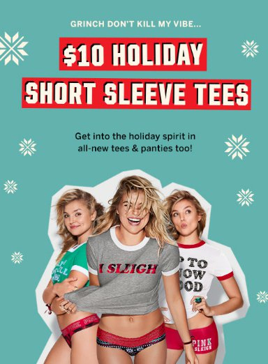 $10 Holiday Short Sleeve Tees