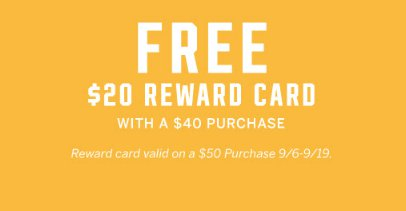 6bb792c4c6bc Northfield Square     Free  20 Reward Card With a  40 Purchase ...