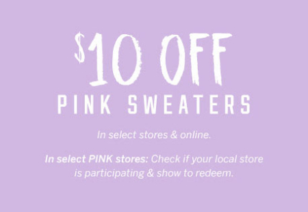 The Galleria At Pittsburgh Mills 10 Off Pink Sweaters