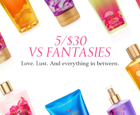 5/$30 VS Fantasies at Victoria's Secret