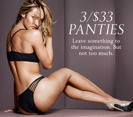 3/$33 Panties at Victoria's Secret