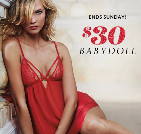 $30 Babydoll at Victoria's Secret