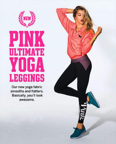 Shop Pink Ultimate Yoga Leggings at Victoria's Secret