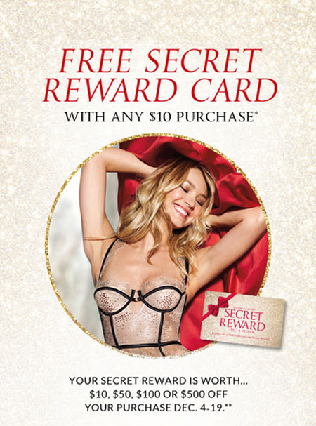 Free Secret Reward Card