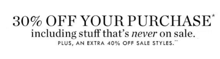 30% Off Your Entire Purchase