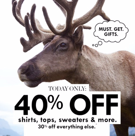 40% Off Shirts, Tops, Sweaters & More