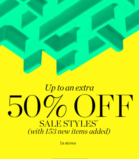 Up to An Extra 50% Off Sale