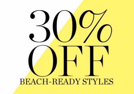 30% Off Beach-Ready Styles
