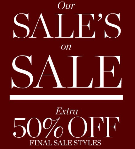 Extra 50% Off Final Sale Styles