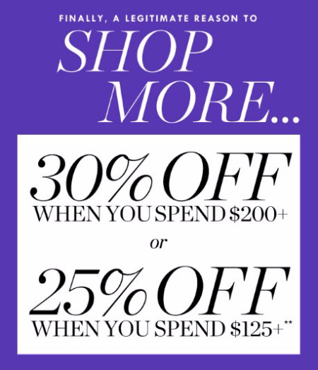 30% Off When You Spend $200 or More