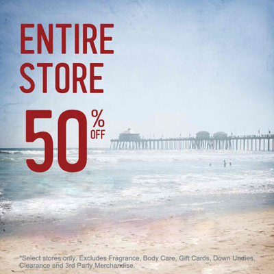 Entire Store 50% Off at Hollister