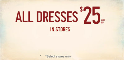 All Dresses $25 And Up at Hollister