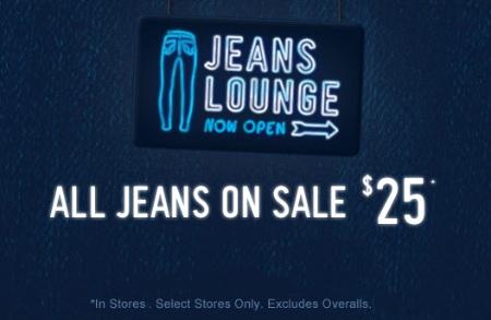 All Jeans on Sale $25 at Hollister