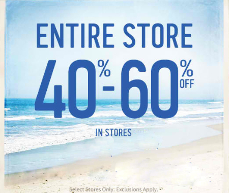 40% - 60% Off Entire Store at Hollister