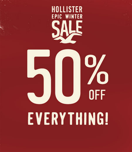 50% Off Everything at Hollister
