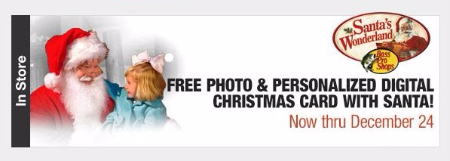 Free Photo & Personalized Digital Christmas Card with Santa