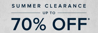 Summer Clearance up to 70% Off