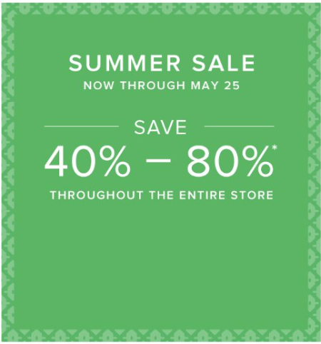 Summer Sale 40% - 80% Off Everything