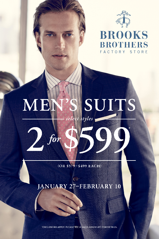 Men's Suits Select Styles 2 for $599*