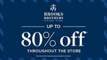 Up to 80% Off Throughout the store