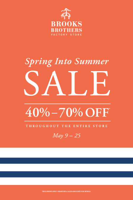 Spring Into Summer Sale 40% - 70% Off*
