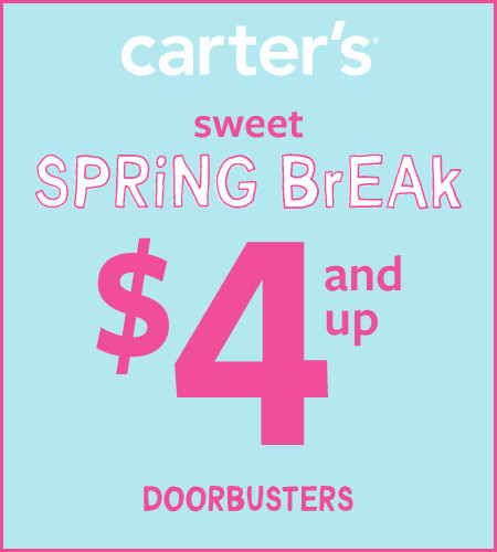 6bb44fc1 Sanibel Outlets ::: Sweet Spring Sale Up to 60% Off* ::: Carter's